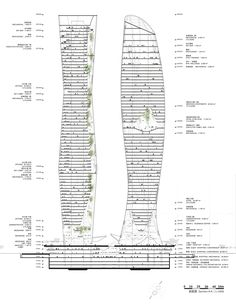 'The Two Pillars of Eastlake - An Urban Garden' - COOP HIMMELB(L)AU | Wolf D. Prix / W. Dreibholz & Partner ZT GmbH (Principal in Charge: Wolf D. Prix / Project Partners: Karolin Schmidbaur , Michael Volk / Design Architect: Quirin Krumbholz / Project Architects: Pete Rose, Veronika Janovska) - Hangzhou, China