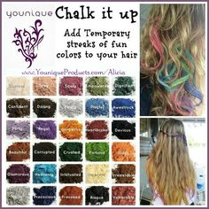 Younique Mineral makeup as hair chalk!  100% #natural, #organic, no parabens, oils or cheap fillers.   https://www.youniqueproducts.com/NaomiSparman