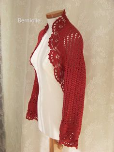 FIORENZA Crochet shrug pattern pdf by BernioliesDesigns on Etsy