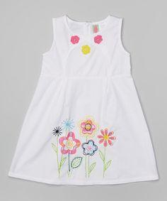 White Floral Dress - Infant, Toddler & Girls