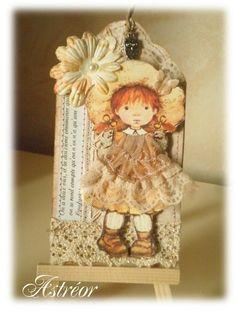 Scrapbooking Astréor - Sarah Kay : la petite fille timide ♡♥