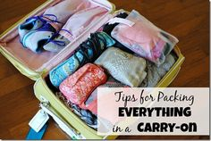 Carry On Suitcase Packing Tips  Travel light  Pack light