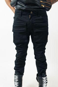 Twill Cotton Hexagon Pocket Pants