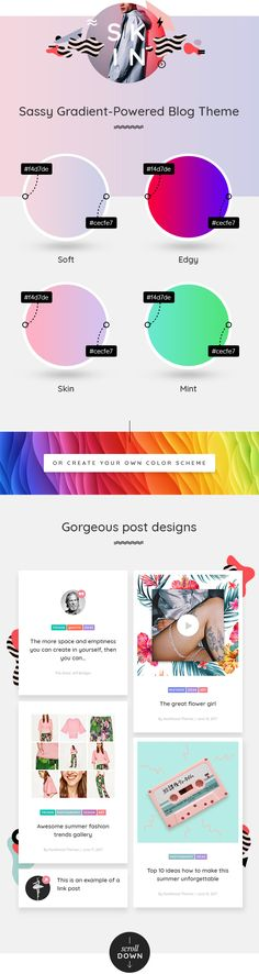 Meet SKIN – A Creative Solution for Contemporary Blogpreneurs Sassy, colorful and original – SKIN is a perfect theme for bloggers who want to leave a lasting first impression on their visitors w...