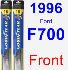 Front Wiper Blade Pack for 1996 Ford F700 - Hybrid
