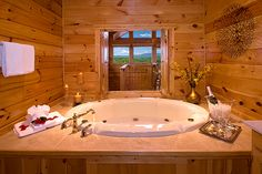 This cabin is called sweet surrender... I just want the tub!