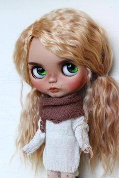 Brynn Vlastní Blythe Doll OOAK Art Doll