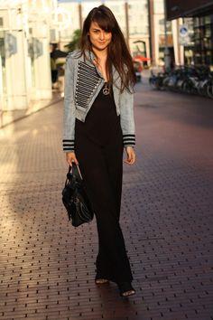 Black Maxi Dress + Denim Jacket > FTW