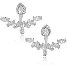 Karina Diamond Flower Ear Jackets | Body Kandy Couture