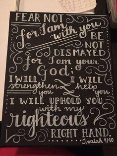 Bible verse - 9x12 Canvas Chalkboard by RestoredByHope on Etsy
