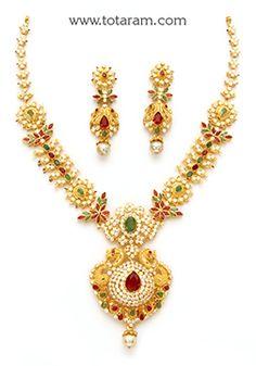 Totaram Jewelers: Buy 22 karat Gold jewelry & Diamond jewellery from India: Gold Necklace Sets