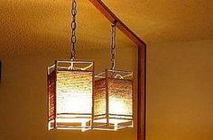 Cómo hacer una lámpara colgante japonesa