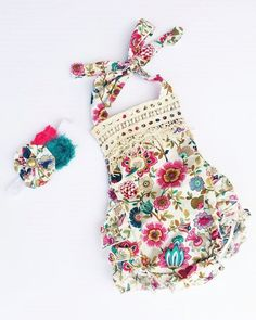 BOHO CHIC ROMPER- Secret Garden #boutique-outfits #new #newborn-clothing #newborn-sets #perfect-sets #pettirompers #rompers #spring-line
