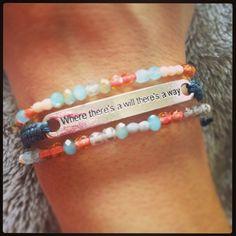 Inspirational macrame bracelet set by AroundMyWrist on Etsy, $20.95