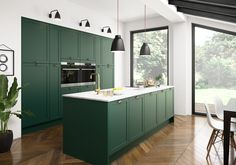 The best kitchen design ideas for your home in This expert trends round up reveals the latest modern kitchen ideas and contemporary kitchen trends from storage to two-tone kitchens. Kitchen Trends 2018, Kitchen Color Trends, Kitchen Colors, Colour Trends, Latest Kitchen Trends, Colour Schemes, Green Kitchen Cabinets, Kitchen Cabinetry, Kitchen Flooring