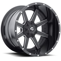 D262 - Maverick Black & Milled - Fuel Off-Road Wheels