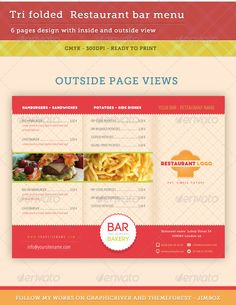 And here is the second version - Bar, Restaurant Menu V2