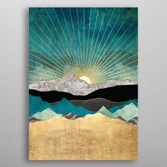 Nordic Abstract Landscape Geometric Mountain Wall Art Ocean Stars Canvas Painting Poster Print Wall Picture for Living Room Landscape Quilts, Abstract Landscape, Abstract Art, Abstract Portrait, Pencil Portrait, Inspiration Art, Art Inspo, Nature Posters, Art Posters