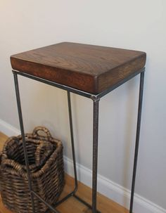 A must for adding an industrial edge to a room and breathing new life into an old piece of wood or a small bedside table or coffee table and removing the tabletop (saving the rest for other projects) and then attaching a frame made from scrap metal and piping
