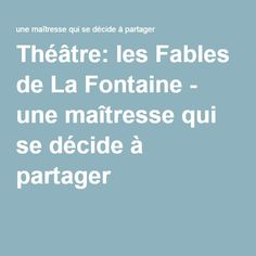 Les Fables, Cycle 3, Drama, Expressions, Coaching, Animation, Teaching, Training