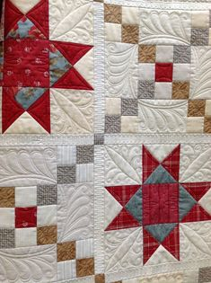 Nice alternation in quilting the blocks