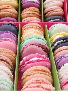 Macarons - delicious and pretty.