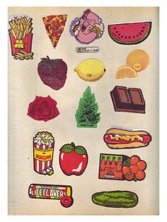Scratch n Sniff,,,,haha I have all of these in my kindergarten sticker book!
