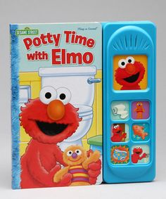 Look at this #zulilyfind! Potty Time With Elmo Play-a-Sound Board Book by Sesame Street #zulilyfinds 8.5