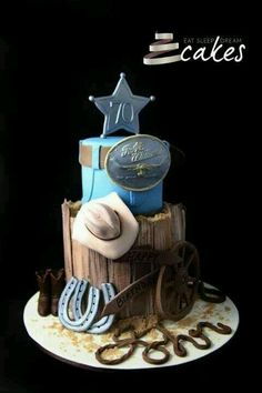 Beautiful western bday cake