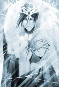 A king of a cold land who perhaps an unlucky Ciel has stumbled upon and found himself in King Sebastian's icy grasp.