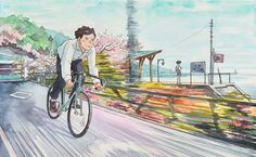 Bicycle Boy: Watercolour illustrations that follow a boy bicycling through his day | Creative Boom