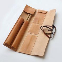 Caso de baquetas bolsa de cuero hecha a mano ** diseño Original ** Abra el tamaño: W 29cm alto 45,5 cm (el tamaño puede ser modificado para requisitos