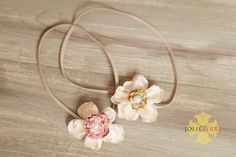 MEG -Rose Pink -mixed flower headband, newborn photography prop, baby/girl headbands, choose size and color. $9.95, via Etsy.