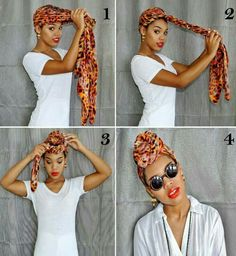 Nice wrap when you don't feel like doing your hair!