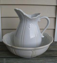 Vintage McCoy Pottery Pitcher and Basin Bowl