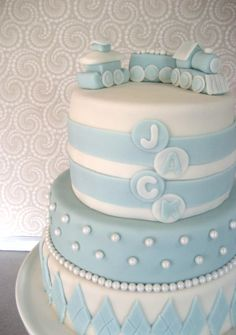 baby boy cakes | Baby Boy Blessing Cake