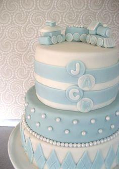 baby boy cakes | Baby Boy Blessing Cake