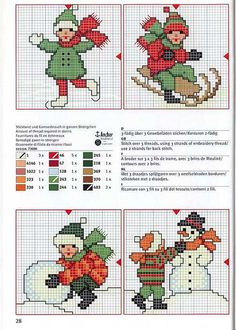 4 Kids at play * Cross Stitch Christmas Cards, Xmas Cross Stitch, Cross Stitch Cards, Cross Stitch Baby, Christmas Cross, Counted Cross Stitch Patterns, Cross Stitch Designs, Cross Stitching, Cross Stitch Embroidery