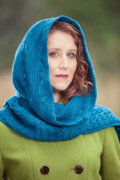 """Love this """"Hooded Scarf"""" from Interweave Crochet Accessories 2011!"""