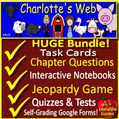 Reading Resources, Teaching Reading, Teacher Resources, Charlotte's Web, 5th Grade Reading, Test Prep, Google Classroom, Interactive Notebooks, Classroom Management