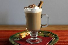 Maple Pumpkin Spice Lattes - this big batch of lattes is heated in a crock pot - perfect hot drink for a party or during the holidays