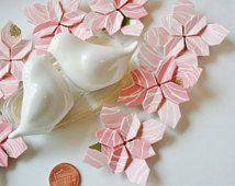 100 Origami Flower Hydrangea.Paper flowers.Origami flowers.Handmade.Wedding petals.Paper petals.Table decor.gift for her.Bridal shower.