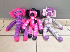 Sock Elephants! They are 40 - 45cm long. R120 each