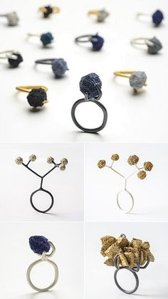 """Turkish jeweller Burcu Sülek puts an end to the expression """"soft as a sponge"""" with her hardened, pigmented sponge jewellery. """"Pretty as a sponge,"""" however, is now open for business."""