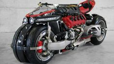 The Lazareth LM 847 quad-wheel motorcycle is the insane looking ride with an impressive 470 horses of raw power. The brainchild of Ludovic Lazareth, it features rim-mounted brakes, single sided swing-arms, and a formidable liter Maserati engine. 4 Wheels Motorcycle, Motorcycle Design, Motorcycle Style, Motorcycle Camping, Camping Gear, Maserati, Ferrari, Bugatti, Concept Motorcycles