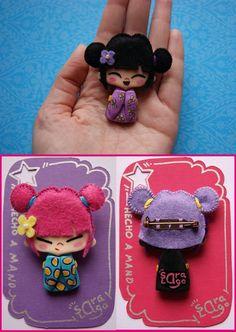 Este es un lote de muñequitas que hice para Reyes. Se llaman Miko  y no hay dos exactamente iguales.    Los cuerpecitos los modelo a mano co...