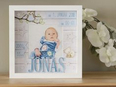 Personalized gift for birth in frame, baby frame, baptism gift, gift to birth, frame to birth – Gift Ideas 2020 Nursery Pictures, Home Decor Pictures, Room Pictures, Baptism Gifts, Christening Gifts, Baby Baptism, Image 3d, Stampin Up, Ribba Frame