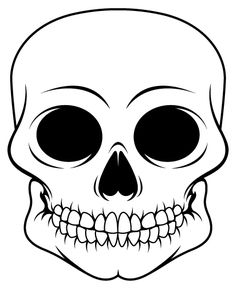 skull outline only by vicious traceable pictures designs ect in
