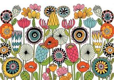 Doodle Patterns 296463587948331908 - Embody Your Muse – Lisa Congdon Source by monarrosoir Posca Art, Illustration Art, Illustrations, Flower Doodles, Doodle Flowers, Drawing Flowers, Arte Popular, Art Graphique, Doodle Drawings