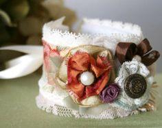 Handmade fabric cuff bracelet – Etsy